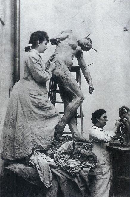 Camile Claudel en el estudio. Foto: Wikipedia