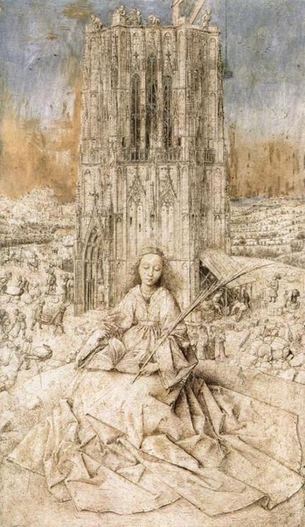 Jan van Eyck. Santa Bárbara (dibujo)