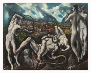 """El Greco. """"Laocoonte"""" ca. 1610-14. Nat. Gallery, Washington"""