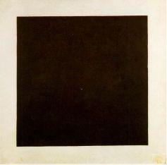 "Malevich, ""cuadrado negro sobre fondo blanco"""