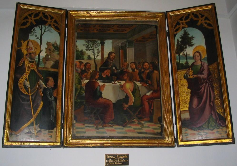 Juan de Borgoña. Tríptico de la Última Cena. Sacristía Catedral del Toledo