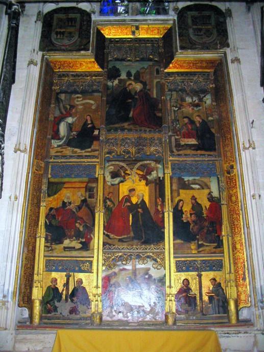 Juan de Borgoña (pintura). Retablo del Abrazo en la Puerta Dorada. Catedral de Toledo