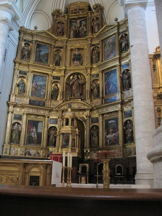 Detalle del Retablo de Sta. María Magdalena. Getafe. Contiene pinturas de Angelo Nardi, Jusepe Leonardo y Félix Castelo