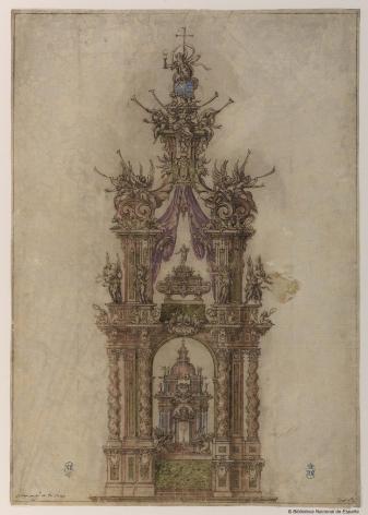 Sebastián de Herrera Barnuevo. Altar-Baldaquino para San Isidro. BNE