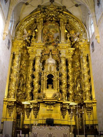 José Benito Churriguera (traza y arquitectura) y Claudio Coello (pintura). Retablo de San Esteban, Salamanca.