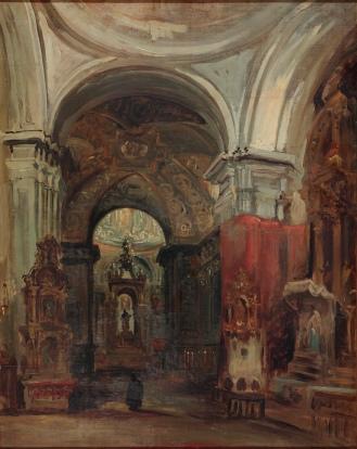 Genaro Pérez Villaamil. La Capilla de San Isidro. Museo del Romanticismo