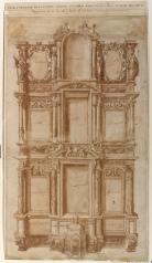 Gaspar Becerra. Traza del retablo de las Descalzas Reales de Madrid