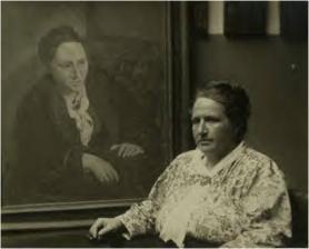 Gertrude Stein ante su retrato