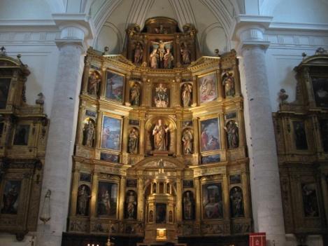 Alonso Carbonel (Traza y Arquitectura) Antonio de Herrera Barnuevo (tallas). Retablo de Sta. María Magdalena. Getafe (Madrid)