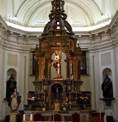 Fco. Bautista. Retablo-Baldaquino del Cristo de los Dolores. V.O.T. Madrid.
