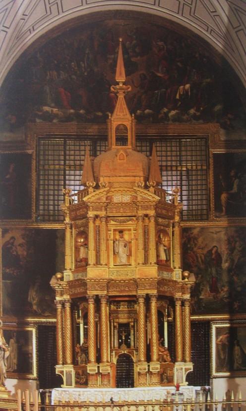 Fco. Bautista. detalle del Altar-Baldaquino de las Bernardas