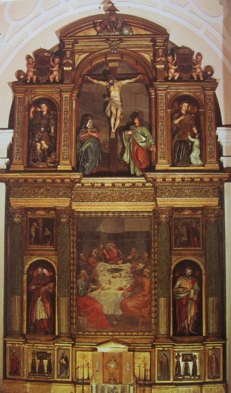 Antón de Morales (talla) y Carducho (Pintura). Retablo de las Carboneras. Madrid.