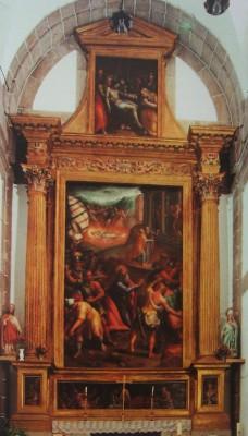 Francisco de Mora (arquitectura) y Juan Gómez (pintura). Retablo de San Bernabé. El Escorial (Madrid)