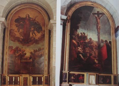 Eugenio Cajés (pintura). Retablos de la Asunción y San Felipe. Torrelaguna (Madrid)