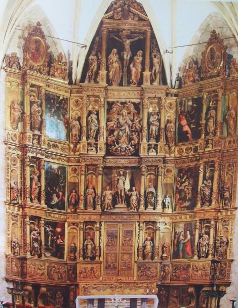 Detalle del retablo de Colmenar Viejo