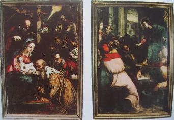 Diego de Urbina y Alonso Sánchez Coello. Detalle de las pinturas del retablo de Colmenar Viejo