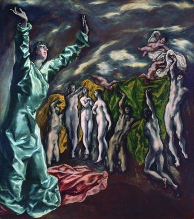 """El Greco. """"Visión de S.Juan"""" ca. 1608-22. Metropolitan Museum of Art. Nueva York"""