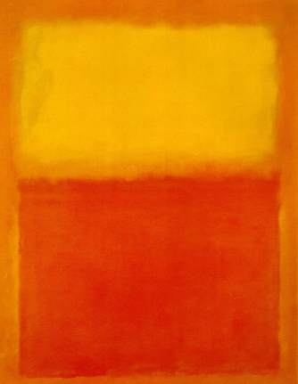 """Mark Rothko, """"Orange and Yellow"""" 1956"""