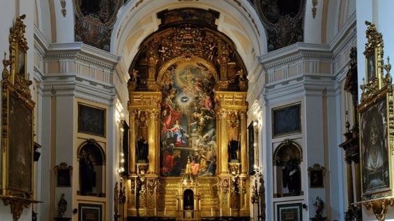 Pedro de la Torre (traza y arquitectura) y Claudio Coello (pintura). Retablo de la Encarnación. Convento de San Plácido. Madrid.