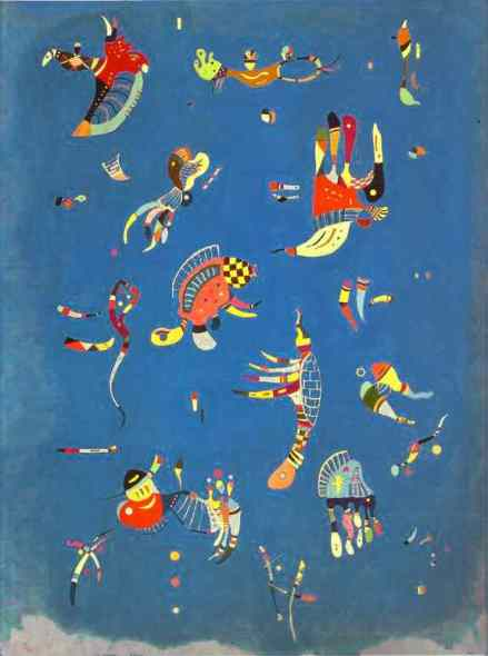 "Kandinski ""Cielo azul"", óleo sobre lienzo, 1940, Centro Pompidou"