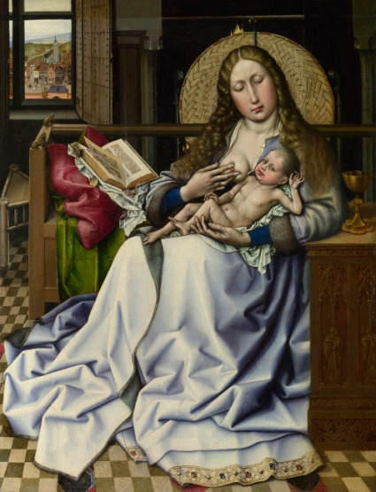 Virgen con Niño. Seguidor de Robert Campin. Nat. Gallerty Londres http://www.nationalgalleryimages.co.uk/Contact: picture.library@nationalgallery.co.ukCopyright © The National Gallery, London