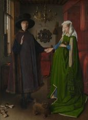 Jan van Eyck. Matrimonio Arnolfini. 1434. Nat. Gallery. Londres