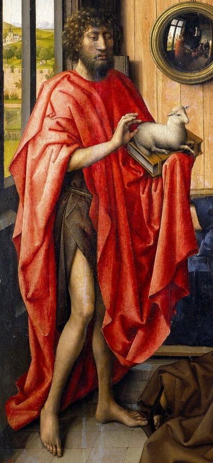 Robert Campin. Detalle de San Juan Bautista en tabla Werl