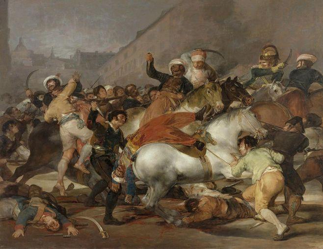 Goya. El 2 de Mayo en Madrid de 1808. 1814. Museo del Prado