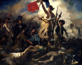 Delacroix. La Libertad guiando al pueblo. 1830. Museo del Louvre