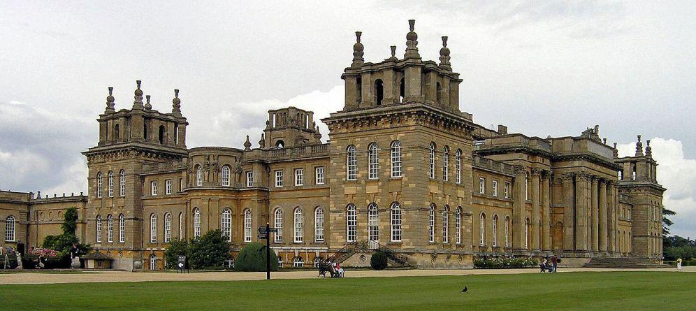 Vanbrugh. Blenheim Palace. vista des de los jardines