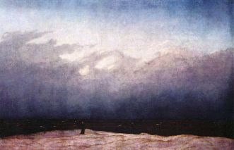 Caspar David Friedrich. Monje a la orilla del mar. 1808–1810. Berlín, Palacio de Charlottenburg