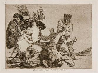 Goya. Desastres de la Guerra. n.º 33, «¿Qué hay que hacer más?».
