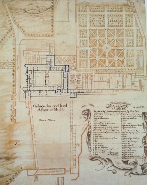 Teodoro Ardemans. Planta del Alcázar de Madrid.