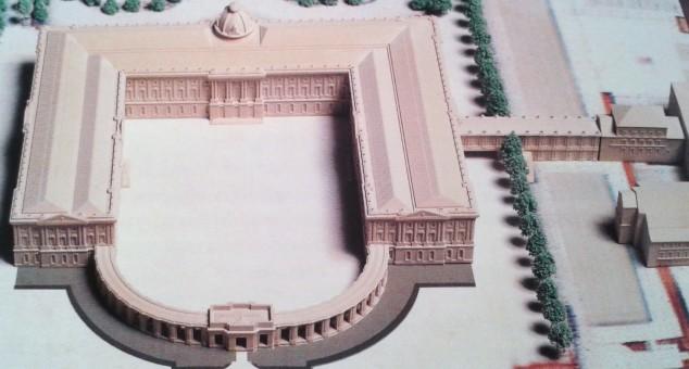 Maqueta del primer proyecto para Palacio Real en el Buen Retiro de Robert de Cotte