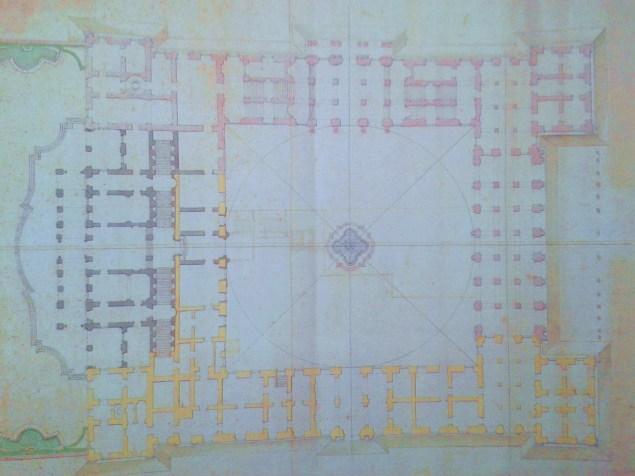 Filippo Juvarra. Proyecto de Palacio Real para Felipe V en Mesina