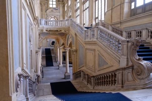 Filippo Juvarra. Vista de la escalera del Palazzo Madama. Turín