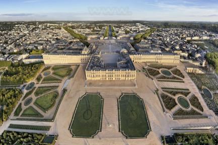 Vista aérea del Palacio de Versalles
