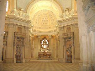 Filippo Juvarra. Interior de la Iglesia de San Huberto, Reggia de la Venaria Reale. Piamonte.