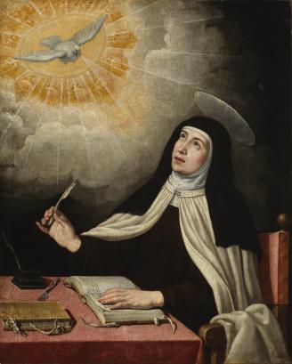 Ribera (copia de) Santa Teresa. Museo del Prado