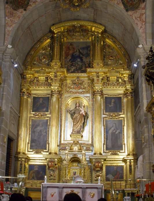 Retablo del convento de San José en Ávila. Primera fundación de Santa Teresa