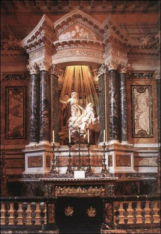 Gian Lorenzo Bernini. Capilla Cornaro. Santa María de las Victorias. Roma