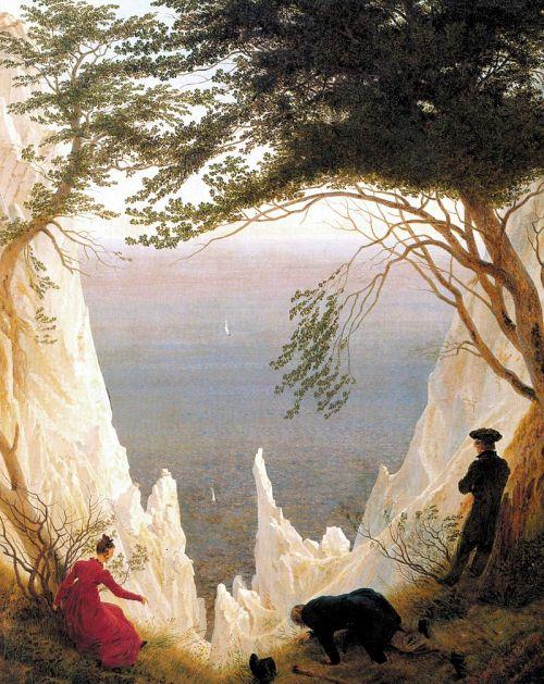 Caspar David Friedrich. Acantilados blancos en Rügen. ca. 1818. Winterthur, Museo Oskar Reinhart en Stadtgarten