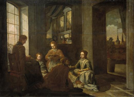 Juan García de Miranda. La educación de Santa Teresa. 1735. Museo del Prado.