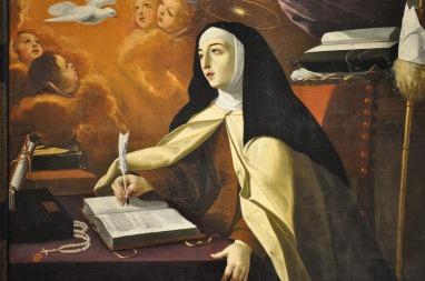 Josefa de Obidos. Santa Teresa en el escritorio