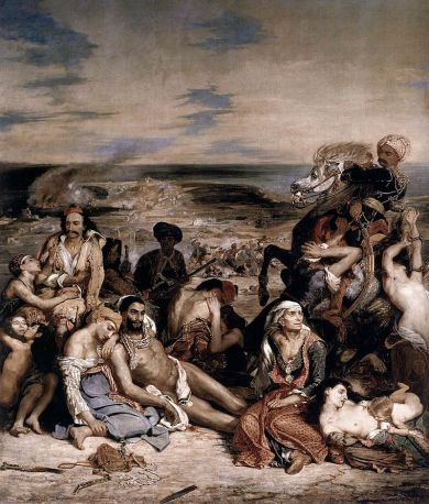 Delacroix. La Matanza de Quios. 1824. Museo del Louvre