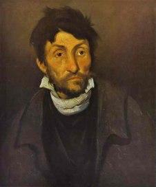 Theodore Gericault. Retrato de cleptómano. ca. 1822-28. Museo de Bellas Arte de Gante