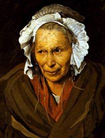 Theodore Gericault. Retrato de anciana loca. ca. 1822-28. Museo de Bellas Artes de Lyon