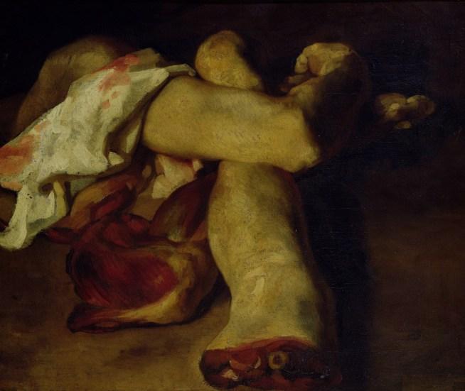 Theodore Gericault. Estudio anatómico de miembros amputados. ca. 1818