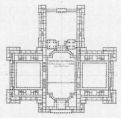 Filippo Juvarra. Planta del Palacio Real de Madrid.