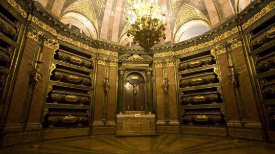 Interior del Pantón de Reyes. El Escorial. Giovanni Battista Crescenzi (idea y supervisión)